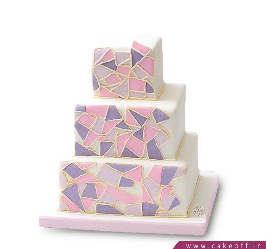 کیک عقد و عروسی کوبیسم   کیک آف