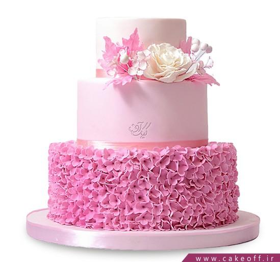 کیک عقد و عروسی به رنگ گل | کیک آف