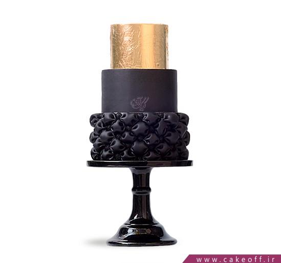 سفارش کیک عقد و عروسی در اصفهان - کیک طلای سیاه،طلای زرد | کیک آف