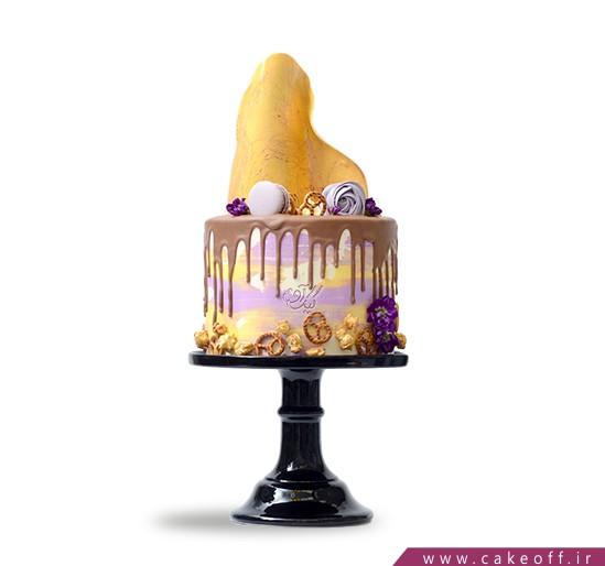 سفارش کیک نامزدی - کیک نامزدی تکه طلا | کیک آف