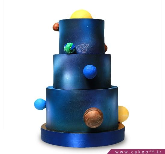 سفارش کیک خاص - کیک سیارات در شب | کیک آف