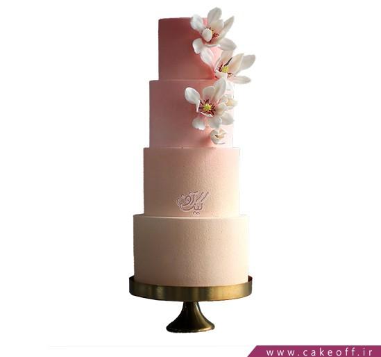 سفارش کیک نامزدی - کیک عقد و عروسی شکوفه ریز | کیک آف