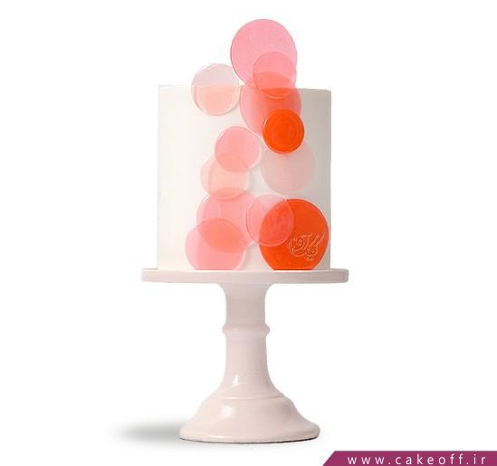 کیک آنلاین - کیک پولک صورتی | کیک آف