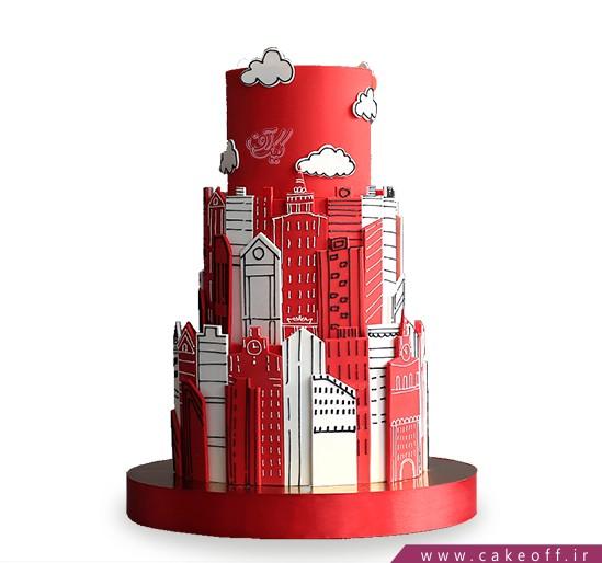 خرید کیک آنلاین - کیک شهر سرخ | کیک آف