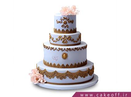سفارش انواع کیک عروسی در اصفهان - کیک عروسی جدید ژاکلین | کیک آف