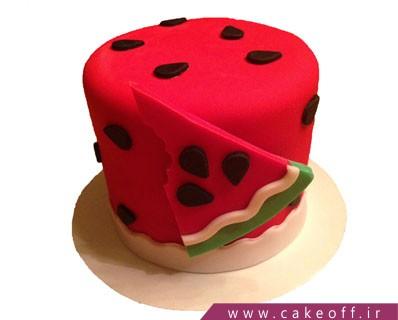 کیک هندوانه - کیک یلدای خاطره |  کیک آف
