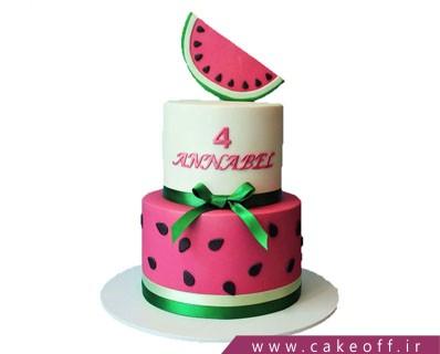 کیک شب یلدا - کیک هندونه ای تولد من | کیک آف