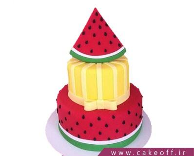 کیک هندونه ای - کیک شب یلدا بی هندونه نمیشه | کیک آف