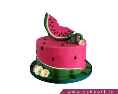 کیک هندوانه - کیک شب یلدای عاشقی | کیک آف