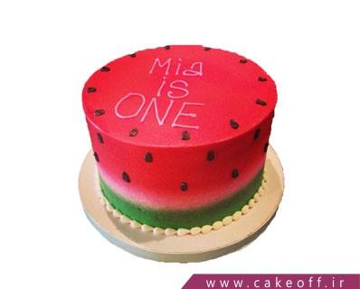 کیک یلدا - کیک هندوانه ی شیرین شب یلدا | کیک آف