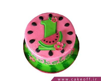 کیک شب یلدا - کیک هندونه گل دختر | کیک آف