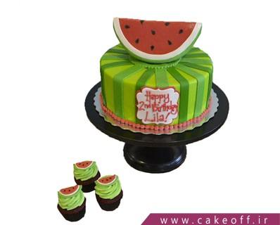 کیک شب یلدا - کیک هندونه ی بالا نشین | کیک آف