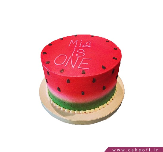 کیک هندوانه ی شیرین شب یلدا