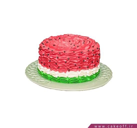 کیک هندوانه ای - کیک یلدای زندگی | کیک آف