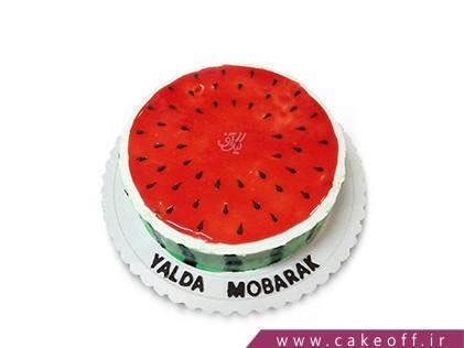 کیک شب یلدا مبارک | کیک آف