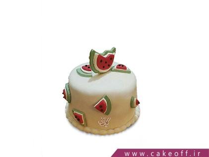 کیک هندوانه ای - کیک شب یلدا و خاطره بازی | کیک آف