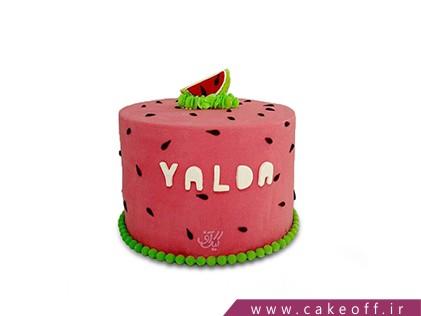 کیک شب یلدا - کیک یلدای با هم بودن | کیک آف