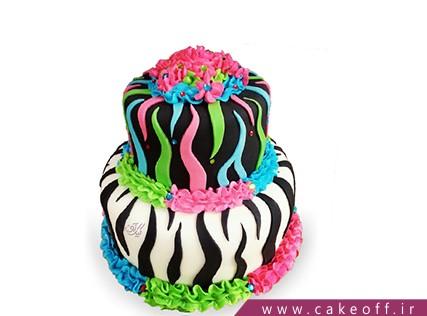 جدیدترین مدل کیک تولد دخترانه - کیک زبرا 4 | کیک آف