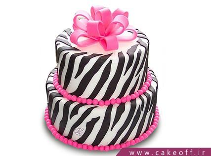 جدیدترین مدل کیک تولد دخترانه - کیک زبرا 5 | کیک آف