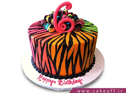 جدیدترین مدل کیک تولد دخترانه - کیک زبرا 6 | کیک آف