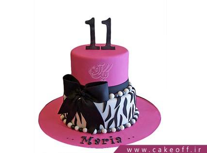 کیک تولد فانتزی دخترانه - کیک زبرا 10 | کیک آف
