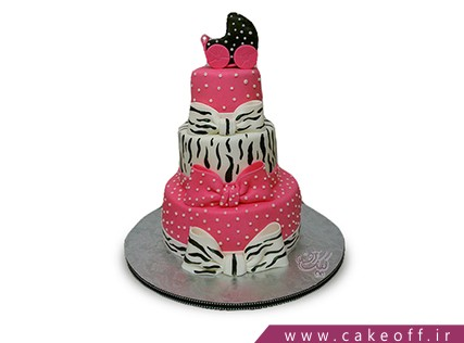 کیک تولد فانتزی دخترانه - کیک زبرا 11 | کیک آف