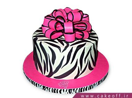 کیک تولد دخترانه شیک - کیک زبرا 13 | کیک آف