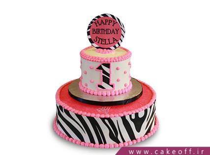 کیک تولد یک سالگی - کیک زبرا 17 | کیک آف