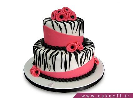 انواع کیک تولد دخترانه - کیک زبرا 18 | کیک آف