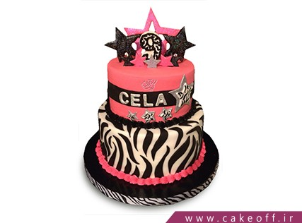 انواع کیک تولد دخترانه - کیک زبرا 19 | کیک آف