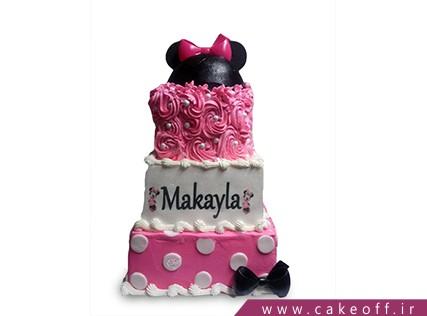 کیک تولد دخترانه میکی سه طبقه | کیک آف