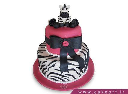 انواع کیک تولد دخترانه - کیک زبرا 20 | کیک آف