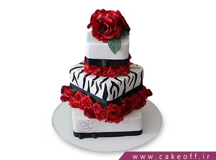 کیک عقد و عروسی - کیک زبرا ۲۲ | کیک آف