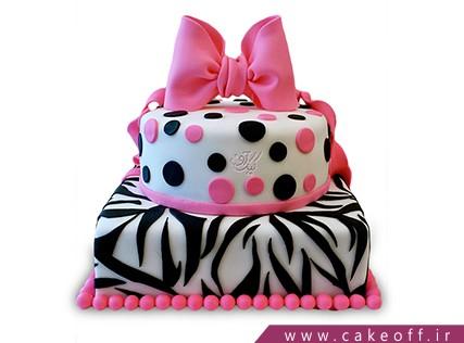 انواع کیک تولد دخترانه - کیک زبرا 23 | کیک آف