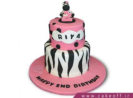 انواع کیک تولد دخترانه - کیک زبرا 24 | کیک آف