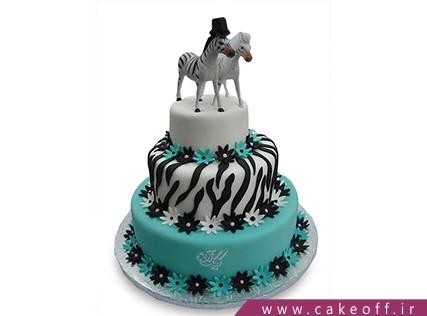 انواع کیک تولد دخترانه - کیک زبرا 25 | کیک آف