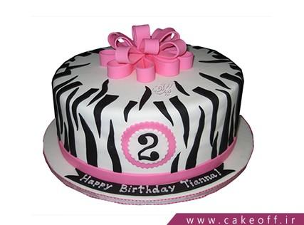 انواع کیک تولد دخترانه - کیک زبرا 26 | کیک آف