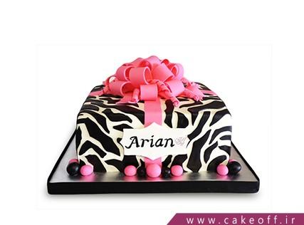 انواع کیک تولد دخترانه - کیک زبرا 27 | کیک آف