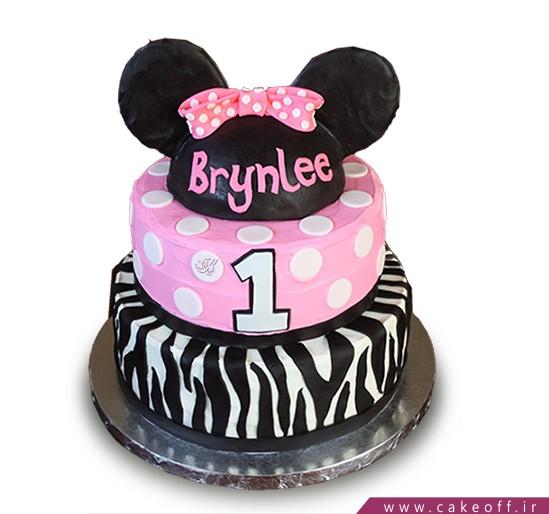 جدیدترین مدل کیک تولد دخترانه - کیک زبرا ۹ | کیک آف