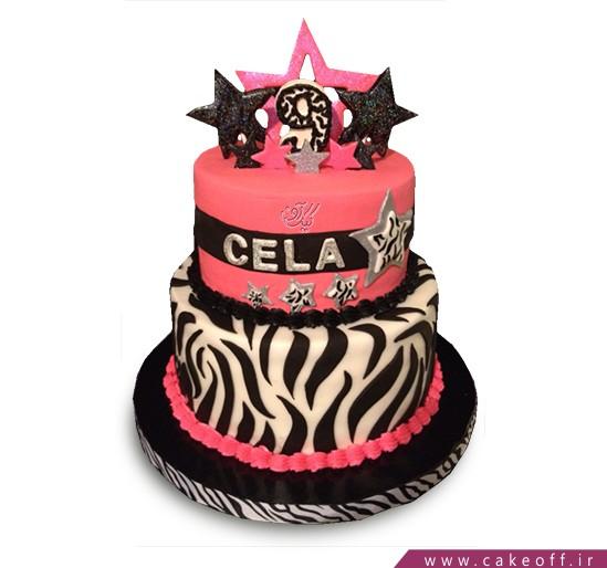 انواع کیک تولد دخترانه - کیک زبرا ۱۹ | کیک آف