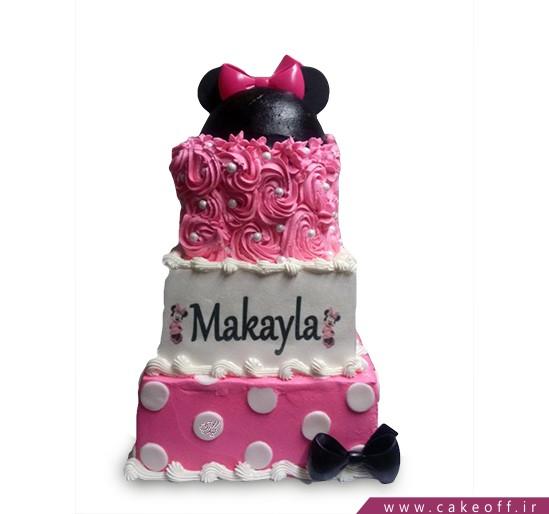 کیک تولد دخترانه میکی سه طبقه   کیک آف