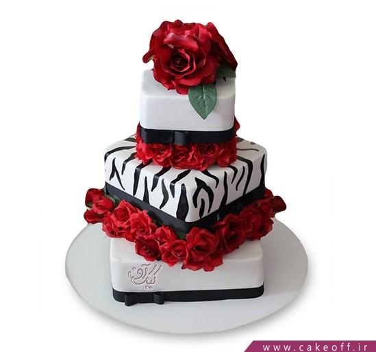 کیک عقد و عروسی - کیک زبرا 22 | کیک آف