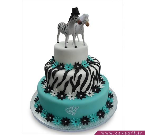 انواع کیک تولد دخترانه - کیک زبرا ۲۵ | کیک آف