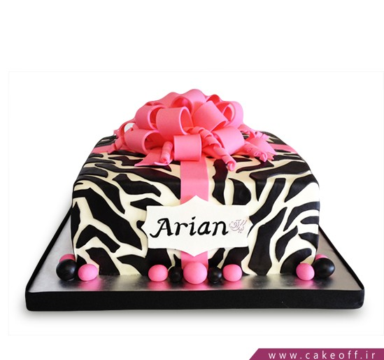 انواع کیک تولد دخترانه - کیک زبرا ۲۷ | کیک آف